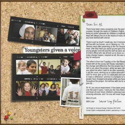Opening page of Professor Sir Al Aynsley Green's retirement album
