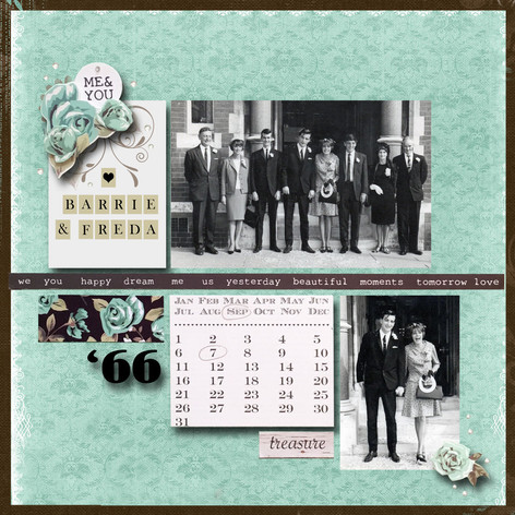 A retro scrapbook page from a heritage album