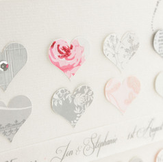 Personalised heart wedding gift