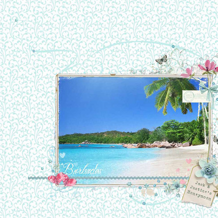 Custom designed canvas covered Honeymoon album
