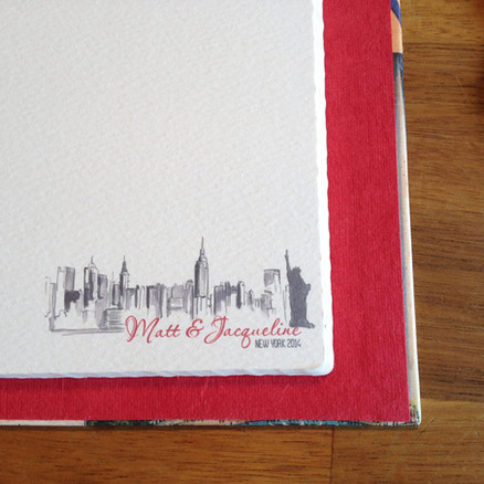 Bespoke printed pages for New York album