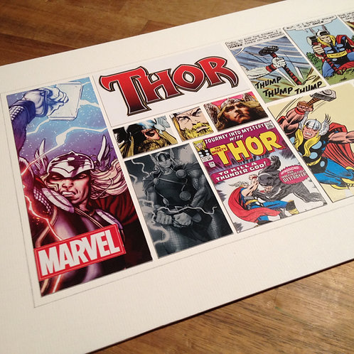 THOR - Original ComicArt Collage - Limited Edition