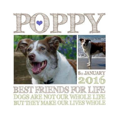 Personalised Dog wordart print