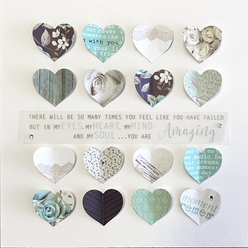 Personalised heart collage - AMAZING MOTHER / MUM