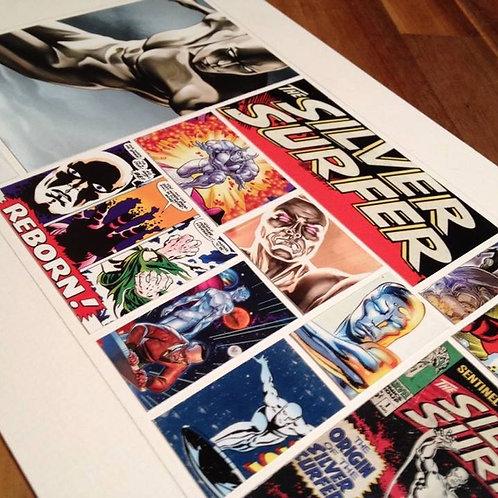 SILVER SURFER - Original ComicArt Collage - Limited Edition