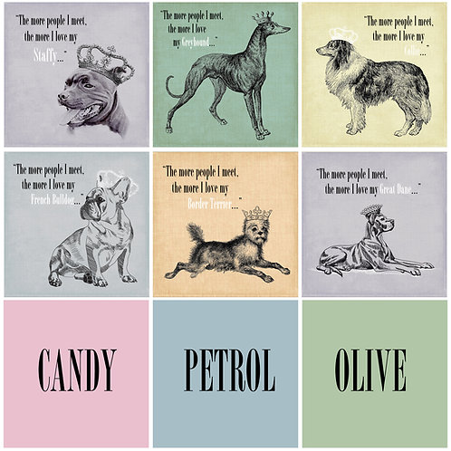 The More I Love my dog - personalised prints