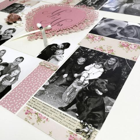 Handcrafted personalised anniversary photo art