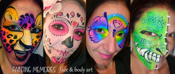 FacePainting, Special Occasion Body Art, Chunky Glitter & UV Body Art