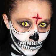 scary half skeleton