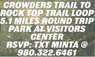 June Run club Hike event Crowders mtn no