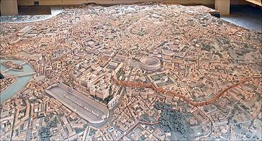 Maqueta de la ciutat de Roma. Museu de la civilització romana, Roma.