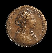 Retrat de la reina Dido en una medalla.