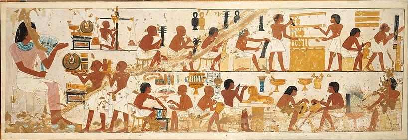Escena d'artesans treballant. Tomba de Nebamun i Ipuky.