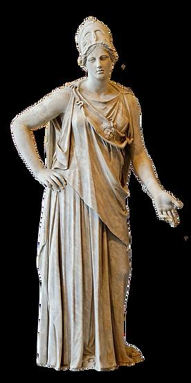 Estàtua de la deessa Atenea, protectora d'Atenes.