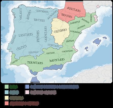 Mapa de la Península Ibèrica Pre-romana.