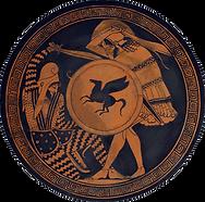 Il·lustració d'un soldat grec lluitant contra un soldat persa.