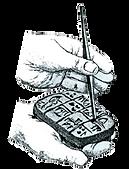Il·lustració de com es feia la escriptura cuneïforme.