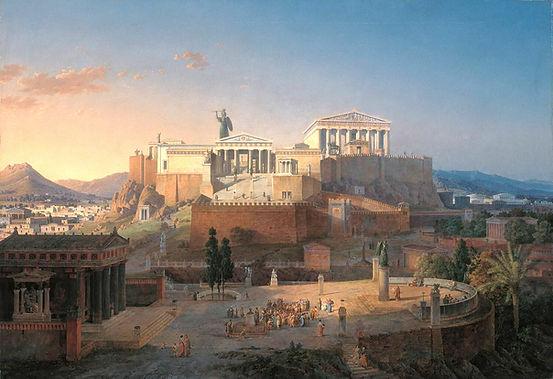 Acropolis (la part alta de de la ciutat on es construien els temples més importants) de la ciutat d'Atenes.