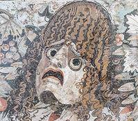 Mosaic d'una màscara de teatre romà. Imatge de: Tyler Bell - Flickr
