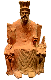 Estàtua del déu Baal Ammon. Imatge de AlexanderVanLoon.