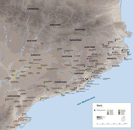 mapa_dels_jaciments_ibers, Museu històri