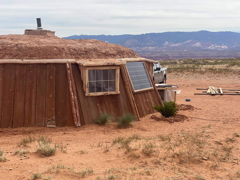 Navajo Hogan in sweetwater Arizona