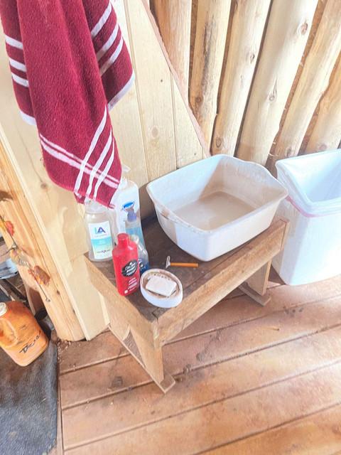 Bathroom sink on the Navajo Reservation