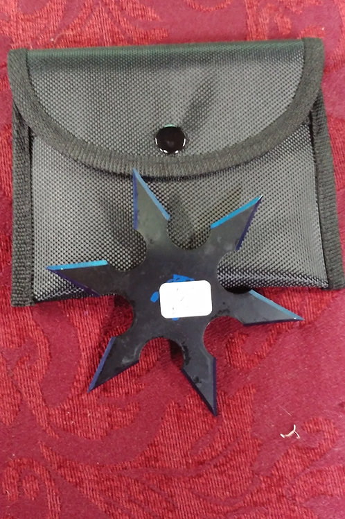 Two set Throwing Stars Red or Blue Tinged