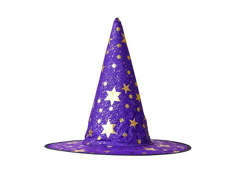 Witch or Wizard hat decorated with stars
