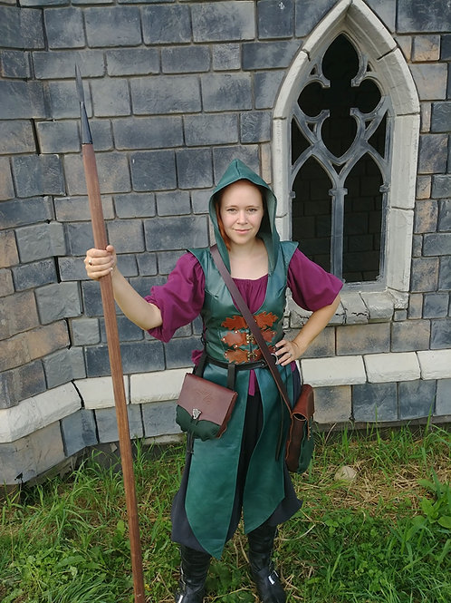 Hooded Huntress Leather Tunic
