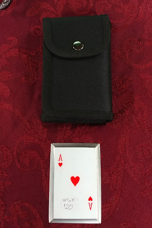 King of Hearts Throwing Cards Set of 5