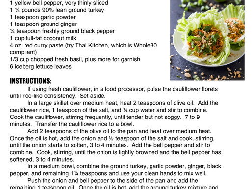 Red Curry Turkey Lettuce Cups