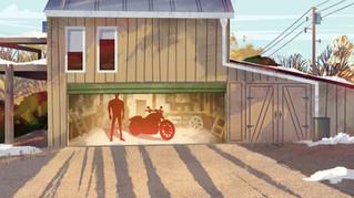 Harley Davidson Trailer.