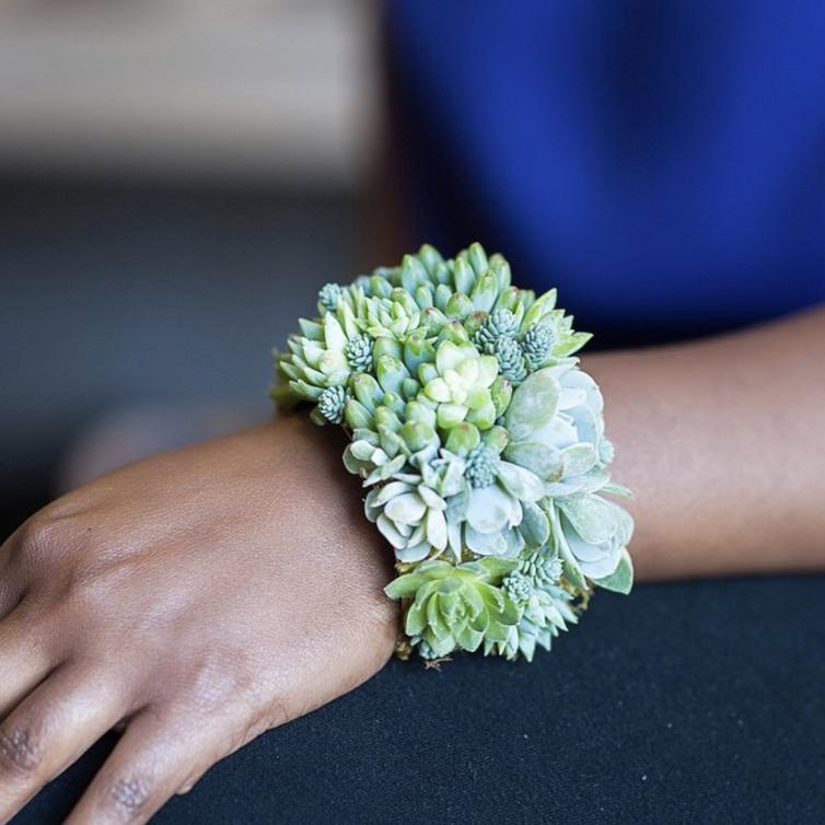 Large Succulent Wrist Wrap - $70