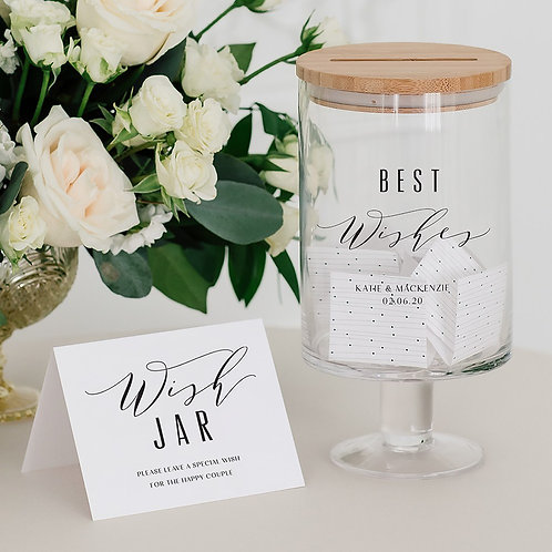 Best Wishes - Personalised Glass Guest Book Jar