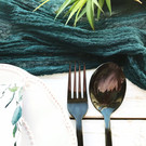 Teal - Cheesecloth Table Runner