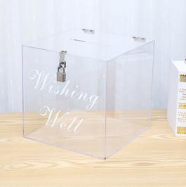 Clear Acrylic Wishing Well - Hire
