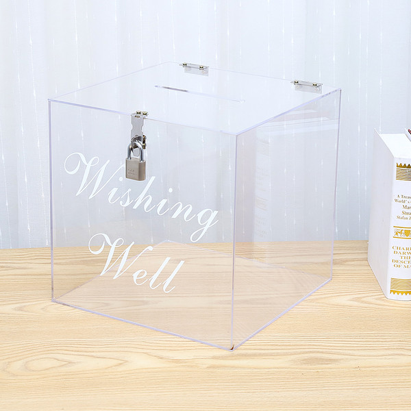 Clear Acrylic Wishing Well - Hire