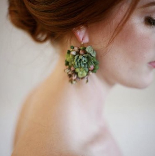 So Succulent Earings - $60