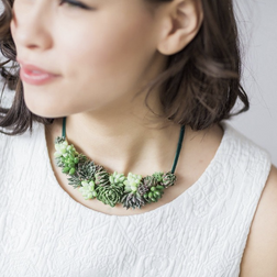 So Succulent Small Necklace - $60