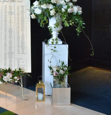 70cm White Fibreglass Stand - Hire