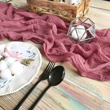 Dusty Rose - Cheesecloth Table Runner