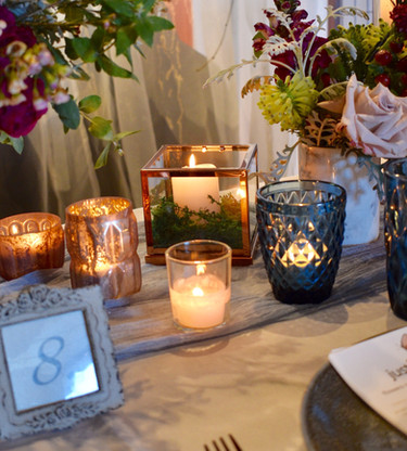 Copper Cube Candle Holder - Hire