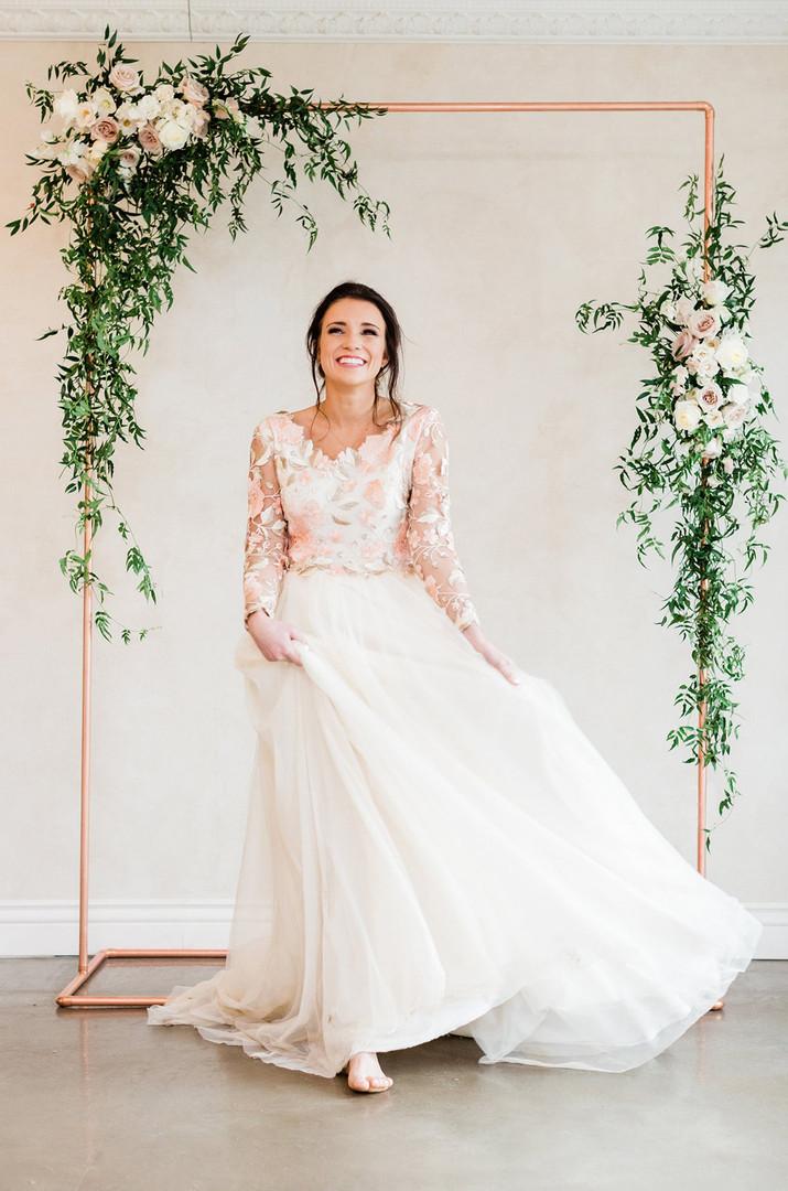 Copper Flower Wedding Arbour - Hire