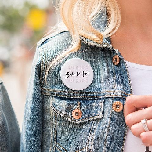 Love Struck - Personalised Wedding Badge