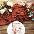 Terracotta - Cheesecloth Table Runner