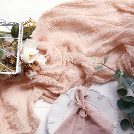 Nude - Cheesecloth Table Runner