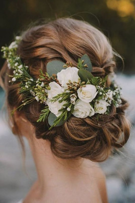 Fine Abstract Flower Crown - $75