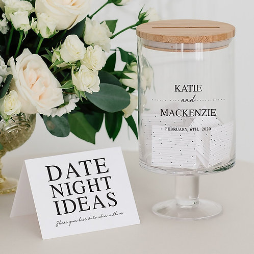 Classic Couple - Personalised Glass Guest Book Jar