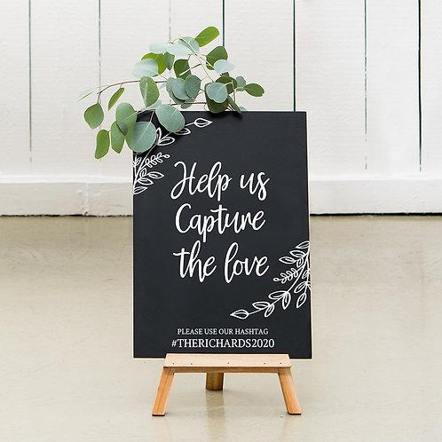 Capture the Love - Wedding Chalkboard Sign
